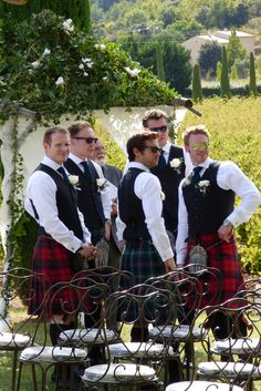 Bravehearts awaiting the Bride... photograph by Cherry Thatcher