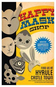 Zelda Happy Mask posters