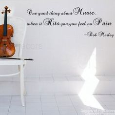 Popdecors Wall Decals  Stickers - One good thing about Music-Bob Marley- words quote phrase - Free Squeegee and color change - custom wall art nursery wall decor sticker tree vinyl baby gift idea Pop Decors Brand; Free Squeegee; Best Price; Fast Shipment. Free Color Customization (click contact seller in your order history page right after purchase to change color from default);. Quality guaran... #Pop_Decors #Home