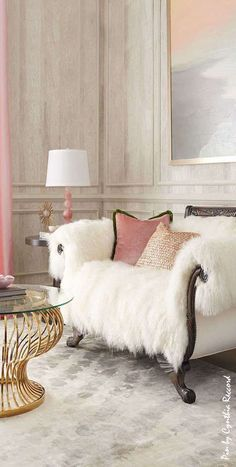 I'd love to curl up in this settee.