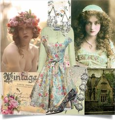 """A little vintage....."" by sue-mes ❤ liked on Polyvore"