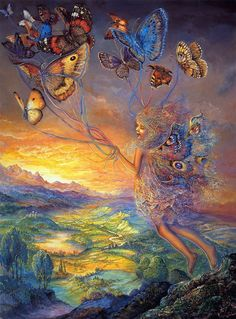 moon goddess Fantasy Paintings by British artist Josephine Wall. From childhood Josephine has had a passion for light and colour, fantasy and visual story Josephine Wall, Fantasy Paintings, Wall Paintings, Fairy Paintings, Fantasy Artwork, Beautiful Fairies, Fantasy Kunst, Inspiration Art, Butterfly Art