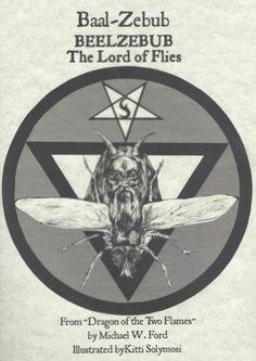 Beelzebub (Baal-Zebub) Lord of Flies and King of Demons Poster print