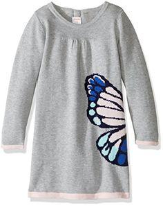 81a29525e5e Gymboree Little Girls   Toddler Butterfly Grey Sweater Dress