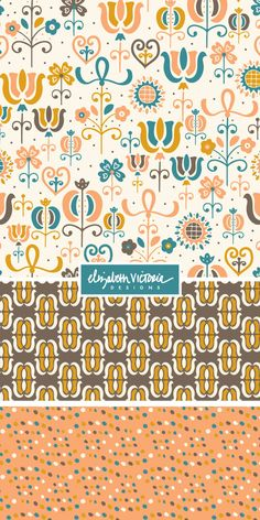 Paramount Collection // Surface Pattern Design by Beth Schneider - Elizabeth Victoria Designs