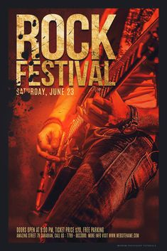 Today we will create a poster design for rock festival in Photoshop CC.