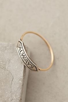Amour Banner Ring - anthropologie.com