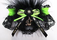 Enjoy the Music of the Night. Your Prom Garter in black or white lace and available in 175 colors of satin band and trim is Personalized with your names and event. If you prefer, there is silver or gold metallic band and trim to match your jewelry. Top it off with the Musical Notes Charm or choose from 70 other charms to attach to your Garter. #PromGartersLace #PromGarters #Prom2015 - Visit: www.garters.com/Prom_Garters_Personalized-37b.htm
