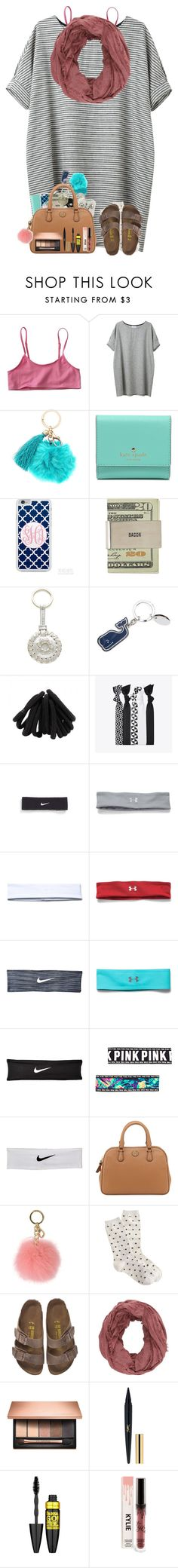 """""""January newsletter!! ❄️   RTD Please!"""" by one-of-those-nights ❤ liked on Polyvore featuring Kate Spade, Popband, NIKE, Under Armour, Tory Burch, MICHAEL Michael Kors, Birkenstock, Charlotte Russe, Clarins and Maybelline"""