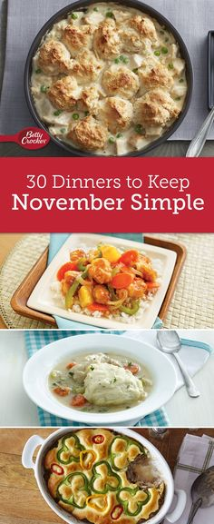 Make dinner one of your easiest to-dos in November with Betty's menu for the month. Packed with every recipe you need, this menu is guaranteed to make dinner extra delicious all month long!