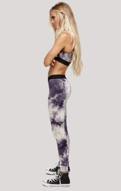Planet Blue's Tie Dye Leggings give that extra 'oomph' at the gym.