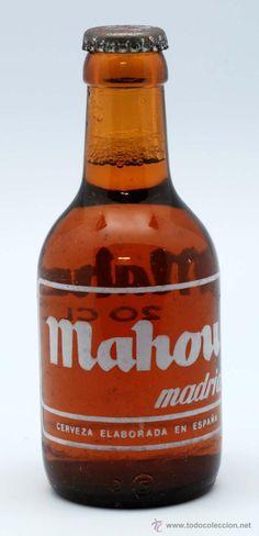 BOTELLA BOTELLIN 20 CL MAHOU CERVEZA MADRID SIN ABRIR AÑOS 80 (Botellas, Cajas y Envases - Botellas Antiguas)