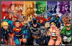 DC Comics - Justice League Of America - Generations Superman Batman Wonder Woman Green Lantern wall poster art print affiliate x Batman Poster, Batman Vs, Dc Comics Poster, Comic Poster, Poster Poster, Superman Logo, Canvas Poster, Justice League Poster, Justice League Characters