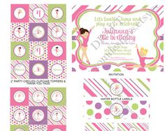 cadence gymnastics party by Anne on Etsy