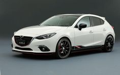 white 2015 mazda 3 hatchback with black rims - Google Search