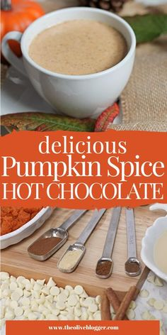 This Hot Chocolate Recipe is sure to be a new favorite, it is lusciously creamy and the spices mix beautifully with the white chocolate to create a Pumpkin Spice drink you won't soon forget. Pumpkin Spice Hot Chocolate Recipe, Creamy Hot Chocolate Recipe, Hot Chocolate Recipes, Best Non Alcoholic Drinks, Drinks Alcohol Recipes, White Chocolate Chips, Healthy Drinks, Spices, Forget