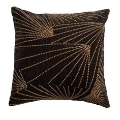 """T08006 Pattern Art deco lines pattern Primary Color Brown Shape 18"""" x 18"""" NEW #RizzyHome"""
