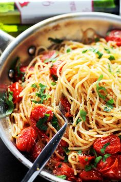 Garlic Parmesan Spag