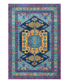 Look at this #zulilyfind! Blue & Orange Persian Floral Delena Rug by nuLOOM #zulilyfinds