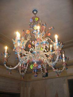 17th century murano glass chandelier dumfries house england one of murano glass chandelier mozeypictures Gallery