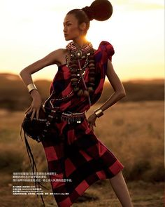 Wang Xiao Photographed By Yin Chao For Harper's Bazaar China November 2013 In 'ExoticEscape'