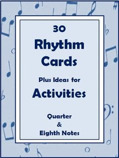 Rhythm Cards and Activities for Kids - Free Printable