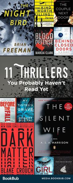 11 widely-reviewed thriller books you probably havent read yet. Including psychological thrillers, scary stories about serial killers, and books with a lot of twists and suspense.