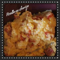 Voilà la recette de mon risotto au chorizo! Normalement la recette est pour 2 mais comme j'ai mis des légumes avec j'ai divisé la recette en 3 parts! ! 2 personnes / 12SP la part 3 personnes / 8SP la part Ingrédients 100g de riz rond 1 échalote 3cc d'huile...
