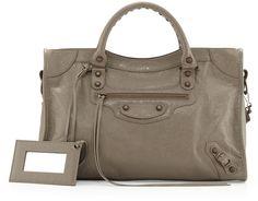 Balenciaga Classic City Lambskin Tote Bag, Beige - $1,835.00