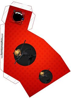 Prodigiosa Ladybug: Cajas para Imprimir Gratis.
