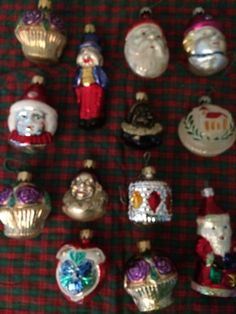 Collectible Christmas Ornaments 1990's. 12 ornaments each different characters !!  Offered by AntiqueCarla@ etsy.com. Free Shipping !