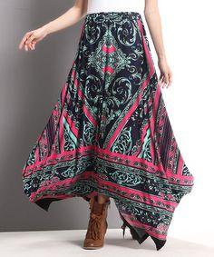 Another great find on #zulily! Navy Fleur-de-Lis Maxi Skirt #zulilyfinds