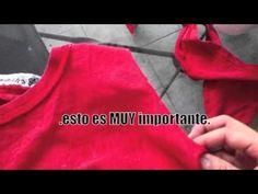 Transformación 1: Bolsa sin costura con T-shirt, via YouTube.