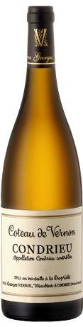 l'œil, sa robe est pâle et s'ouvre sur un bouquet assez complexe de fruits à noyaux, d'abricots et de pêches de vigne. La bouche est racée avec les mêmes notes qu'au nez et une finale joliment réglissée.  A déguster sur des salades d'été ou des poissons frais.   En savoir plus : http://avis-vin.lefigaro.fr/vins-champagne/vallee-du-rhone/nord-septentrional/condrieu/d15182-domaine-georges-vernay/v15191-domaine-georges-vernay-coteau-de-vernon/vin-blanc#ixzz3GyeM21fh