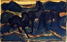 Franz Marc | Horses at Pasture I, 1910