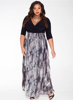 """Aisha Plus Size Maxi Dress in Pewter Ribbon  IGIGI IGIGI Limited Collection  3 review(s)  Write a review $208.00New 30% OFF through 2/19/2015 11:59 PM PST. Use code """""""