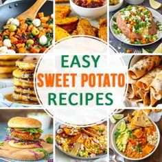 10 easy sweet potato recipes for any occasion: Breakfast recipe ideas, easy weeknight dinner recipes, time-saving pressure cooker meals, including vegan recipes as well! Sweet Potato Lentil Curry, Sweet Potato Gnocchi, Salad With Sweet Potato, Sweet Potato Recipes, Delicious Breakfast Recipes, Easy Healthy Recipes, Vegan Recipes, Fall Recipes, Healthy Food