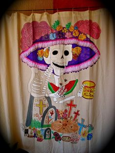 DIA DE LOS MUERTOS ☠~mexican folk art/day of dead art
