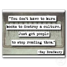 Ray Bradbury quote on books Post Cards