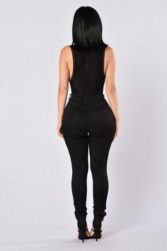 Do A Little Dance Bodysuit - Black