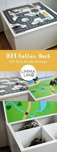 IKEA Hack für dein Kinderzimmer: Mit der passenden Klebefolie verwandelst du dein KALLAX Regal in einen Spieltisch! Deine DIY Möbel kannst du mit personalisierten Folien selbst gestalten. Die Anleitung für diese Idee findest du auf dem Limmaland Blog. Baue dir jetzt einen Spieltisch mit Stauraum selber! www.limmaland.com