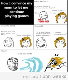 Convincing Mom To Let Me Play Games #funny #gag #lol #comcis #funnycomcis
