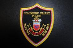 Columbine Valley/Bow Mar Police Patch, Arapahoe County, Colorado (Vintage)