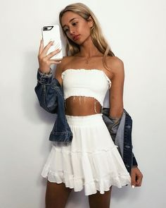 41 pretty mini skirt casual ideas for your style in spring this year 29 Fash Cute Summer Outfits, Spring Outfits, Trendy Outfits, Neue Outfits, Mode Blog, Casual Skirts, Looks Style, Festival Outfits, Mode Style