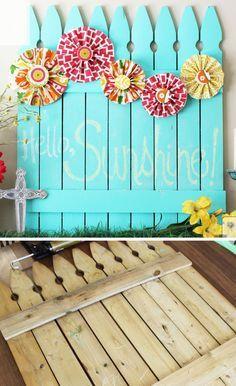 Chalkboard Picket Fence Pallet | DIY Backyard Ideas on a Budget | DIY Garden Fence Ideas