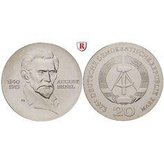 DDR, 20 Mark 1973, Bebel, st, J. 1547: 20 Mark 1973. Bebel. J. 1547; stempelfrisch 42,00€ #coins