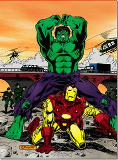 Hulk vs Iron Man by Bob Layton