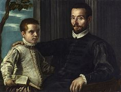 Portrait of a Nobleman with his Son, undated | Jacopo Robusti Tintoretto | Fine Art Painting Reproduction at TOPofART.com