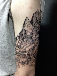 Mountain dotwork