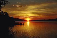 Mitternachtssonne am Raanujärvi